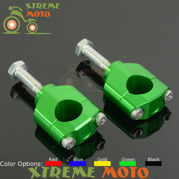 28 MM Gidon Mounts Fat Bar Kelepçe Yükseltici Için Kawasaki KX125 KX250 KXF250 KXF450 Motocross Enduro Motosiklet Dirt Bike Off yol